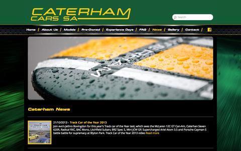 Screenshot of Press Page caterham.co.za - Caterham News | Caterham Cars SA - captured Oct. 2, 2014