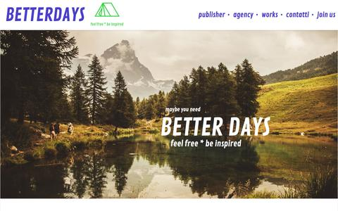 Screenshot of Home Page betterdays.it - BetterDays - publisher, agency, eventi BetterDays - captured Feb. 7, 2016