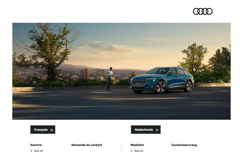 Screenshot of Home Page audi.be - Audi   SplashPage - captured Sept. 19, 2019