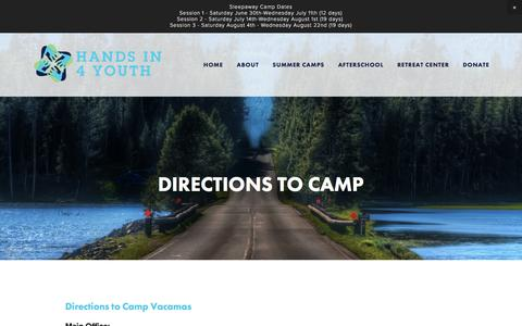 Screenshot of Maps & Directions Page hi4y.org - Directions — Hands In 4 Youth - captured July 9, 2018