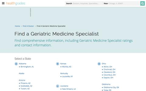 Geriatric Medicine - State Directory