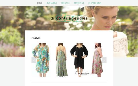 Screenshot of Home Page dicontiagencies.com - Di Conti Agencies - captured Sept. 30, 2014