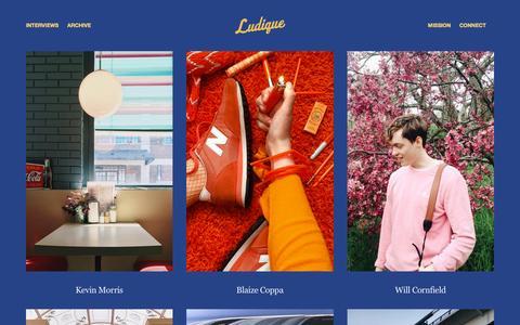 Screenshot of Team Page ludiquemag.com - INTERVIEWS — Ludique - captured Nov. 15, 2016