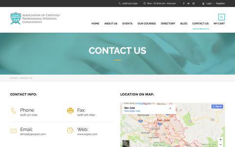 Screenshot of Contact Page acpwc.com - Contact Us – ACPWC - captured Jan. 31, 2017