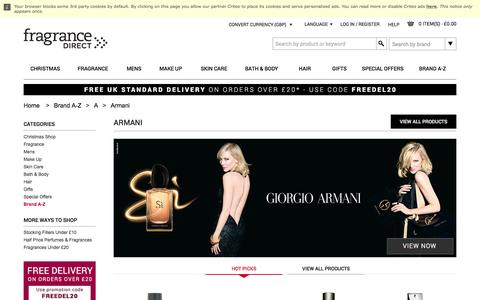Giorgio Armani Perfume, Aftershave & Gift Sets | Fragrance Direct