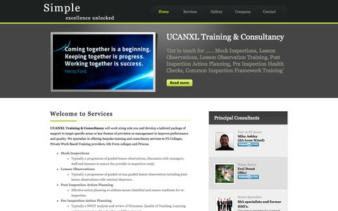 Screenshot of Services Page ucanxl.co.uk - UCANXL-Services - captured Oct. 3, 2014