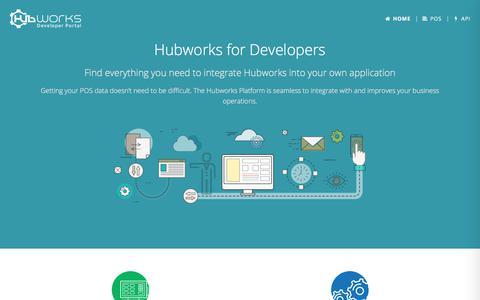 Screenshot of Developers Page hubworks.com - Hubworks API |     Hubworks for Developers - captured Sept. 19, 2017