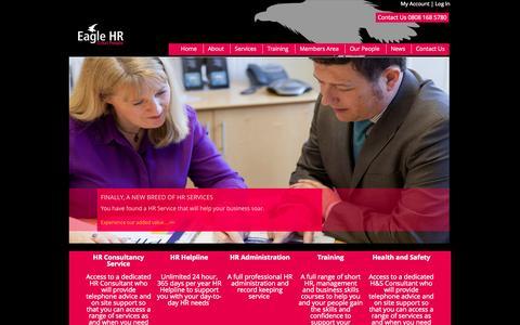 Screenshot of Home Page eaglehr.co.uk - Eagle HR - captured Sept. 20, 2015