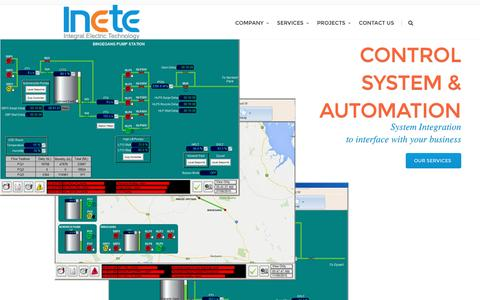 Screenshot of Home Page inete.com.au - Inete Pty Ltd |  Electrical Engineering Consultancy - captured Feb. 10, 2016