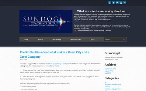 Screenshot of Blog sundogcoaching.com - Sundog Coaching Group - Contact Us - captured Dec. 2, 2016