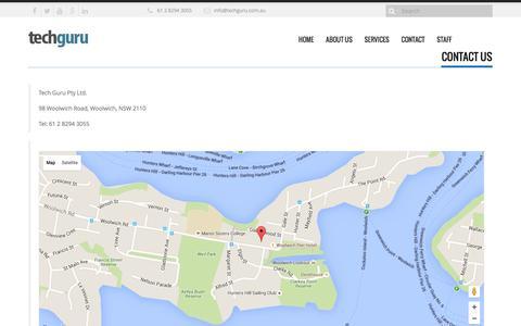 Screenshot of Contact Page techguru.com.au - CONTACT - Tech Guru - captured Feb. 14, 2016