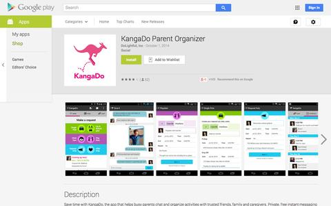 Screenshot of Android App Page google.com - KangaDo Parent Organizer - Android Apps on Google Play - captured Oct. 23, 2014
