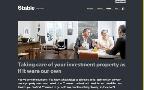 Screenshot of About Page stableproperty.co.nz - About Us - captured Oct. 18, 2018