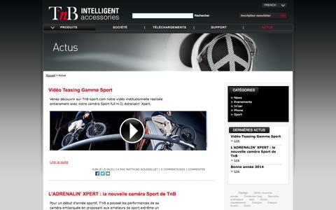 Screenshot of Press Page t-nb.com - News - captured Oct. 27, 2014