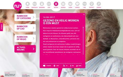 Screenshot of Press Page nu91.nl - NU91 - captured June 15, 2017