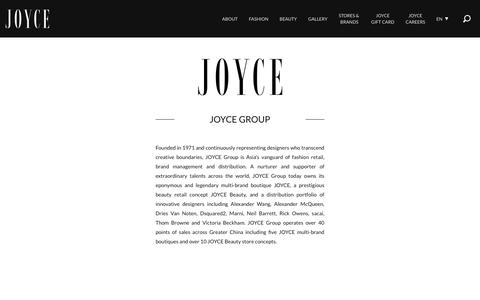 Screenshot of About Page joyce.com - Joyce: About - captured Oct. 14, 2018