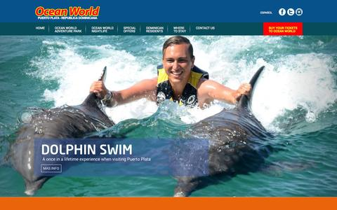 Screenshot of Contact Page oceanworld.net - Ocean World - captured Aug. 12, 2015