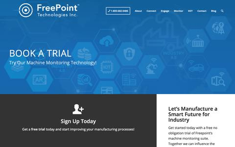 Screenshot of Trial Page getfreepoint.com - Book A Free Trial Today! | FreePoint Technologies - captured Oct. 11, 2018