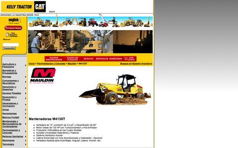 Screenshot of Landing Page kellytractor.com - Mantenedores MAULDIN M413XT en Kelly Tractor - captured Aug. 12, 2016