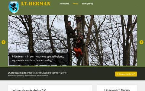 Screenshot of Home Page lt-herman.nl - Leiderschaps Training Herman - captured Sept. 18, 2015
