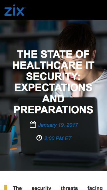 Webinar | The State of Healthcare IT Security