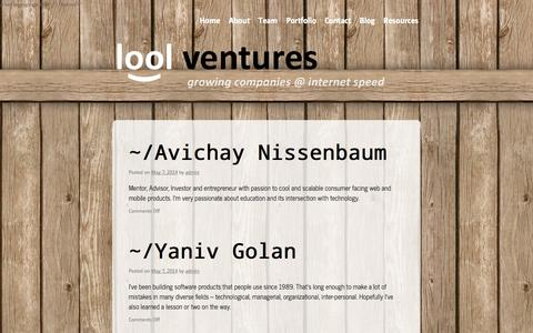 Screenshot of Team Page lool.vc - Team | lool ventures - captured Sept. 23, 2014