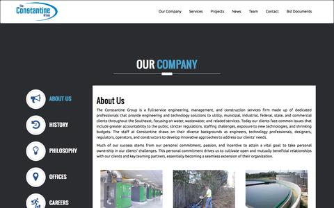 Screenshot of About Page tcgeng.com - Constantine Engineering - captured Nov. 7, 2017