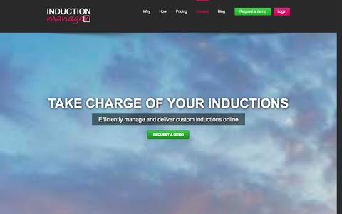 Screenshot of Home Page inductionmanager.com - Induction Training | Contractor inductions |Induction Manager - captured Sept. 13, 2014