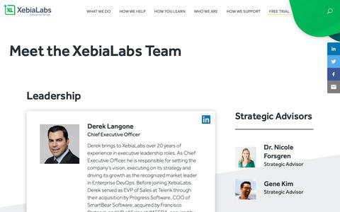Screenshot of Team Page xebialabs.com - Team - captured May 13, 2019