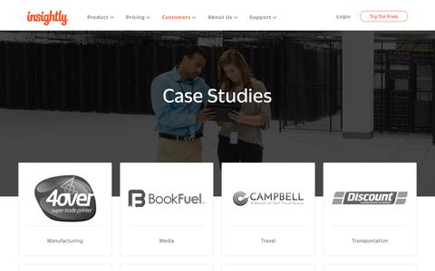 Screenshot of Case Studies Page insightly.com - Case Studies Archive - Insightly - captured June 12, 2018