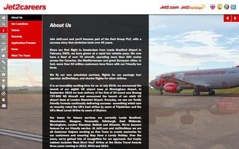 Screenshot of About Page jet2careers.com - About Us - captured Sept. 24, 2017