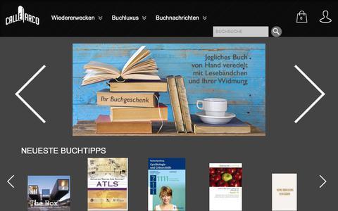 Screenshot of Home Page calle-arco.com - Bücher kaufen - veredeln - wiedererwecken |  Calle Arco - mach Dir mehr aus Büchern - captured Nov. 9, 2018