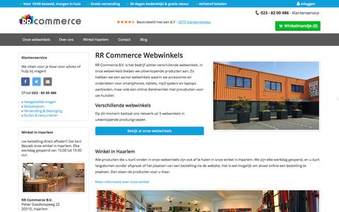 Screenshot of Home Page rrcommerce.com - RR Commerce Webwinkels - captured Dec. 6, 2016