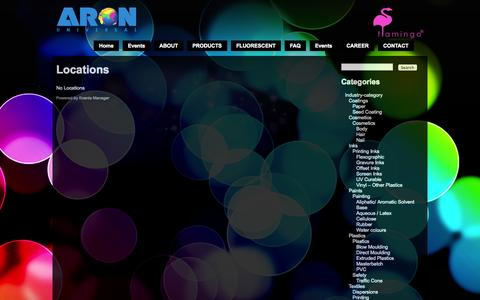 Screenshot of Locations Page aronuniversal.com - Locations | Aron Universal Ltd. - captured Oct. 4, 2014