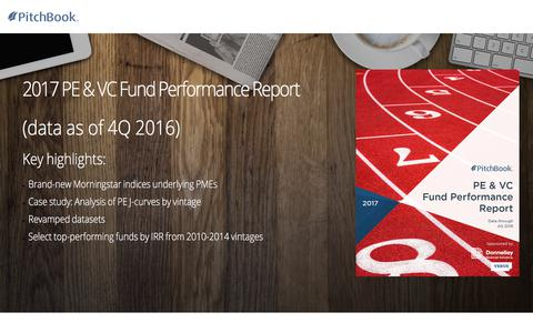 Screenshot of Landing Page pitchbook.com - PitchBook 2017 PE & VC Fund Performance Report - captured Sept. 22, 2017