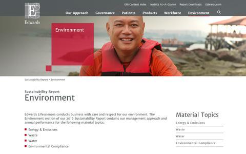 Edwards 2016 Sustainability Report   Environment