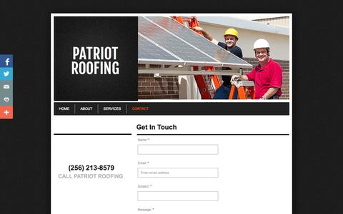 Screenshot of Privacy Page Contact Page patriot-roofing.com - Contact - captured Oct. 22, 2014