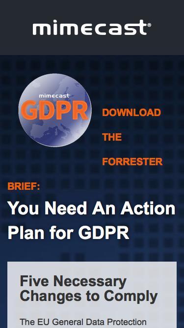 GDPR Forrester Brief | mimecast