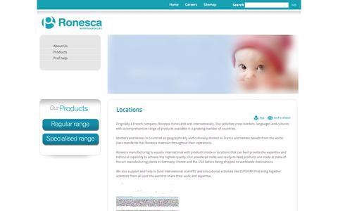 Screenshot of Locations Page ronesca.com - Locations   Ronesca - captured Sept. 30, 2014