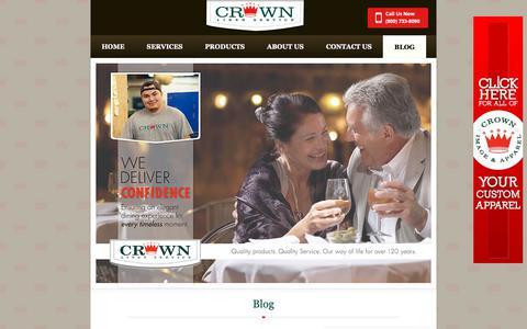 Screenshot of Blog crownlinen.com - Blog | Crown Linen - captured Sept. 29, 2018