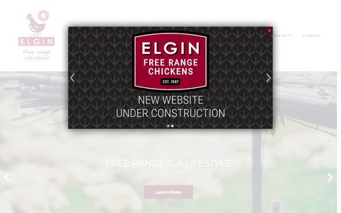 Screenshot of Home Page freerangechickens.co.za - Elgin Free Range Chicken - captured Sept. 27, 2018