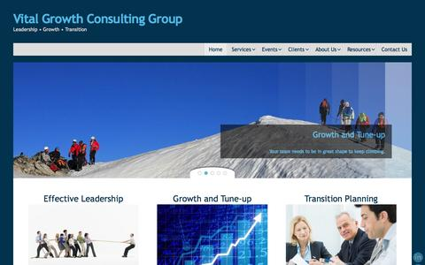 Screenshot of Home Page vitalgrowthllc.com - Vital Growth Consulting Group - captured Oct. 8, 2014