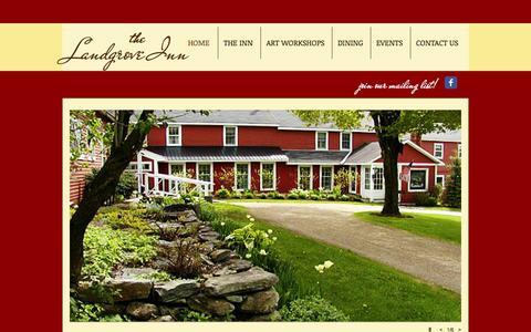 Screenshot of Home Page landgroveinn.com - Southern Vermont Country Inn and Bed & Breakfast - The Landgrove Inn - captured Oct. 8, 2014