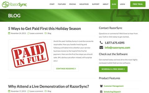 Blog Archives - RazorSync | Field Service Software & Mobile App