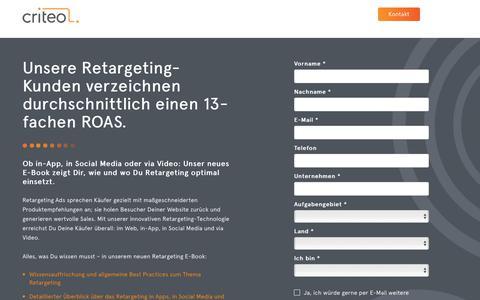Screenshot of Landing Page criteo.com - Criteo Dynamic Retargeting - captured May 31, 2018