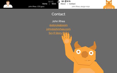 Screenshot of Contact Page johnrhea.com - John Rhea's Design Portfolio - captured Oct. 22, 2018