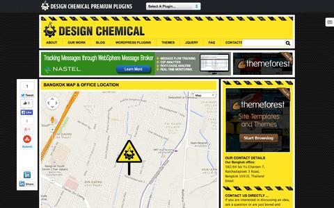 Screenshot of Contact Page designchemical.com - Contact Details For Design Chemical Bangkok - captured Oct. 29, 2014