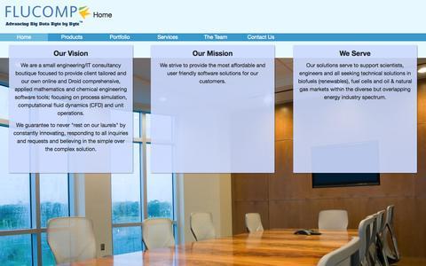Screenshot of Team Page flucomp.com - Flucomp | Home - captured Oct. 6, 2014