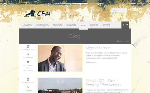 Screenshot of Blog cfaithministries.org - Blog   Christian Faith Ministries - captured Jan. 28, 2016