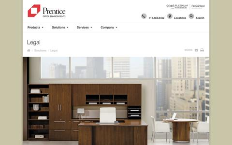 Screenshot of Terms Page prentice.us - Legal - Prentice Office Environments | Prentice Office Environments, Buffalo, Erie County, Bflo, BUF, Erie County - captured Nov. 11, 2016